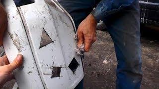 Как надёжно запаять бампер Часть 1 у.п. №196(Мой сайт http://olnest.ru В этом ролике: Как запаять бампер Какие повреждения бывают Как запаять нехватающий кусак..., 2014-03-24T23:29:36.000Z)