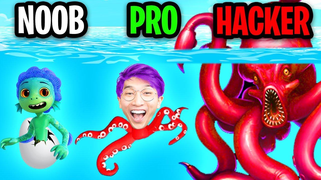 NOOB vs PRO vs HACKER In KRAKEN APP GAME! (ALL LEVELS!)