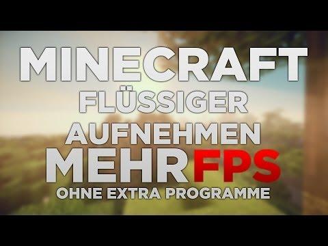 MINECRAFT MIT MEHR FPS AUFNEHMEN | mit...