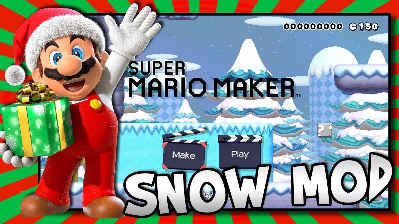 Winter Snow Theme Super Mario Maker Mod   BTG