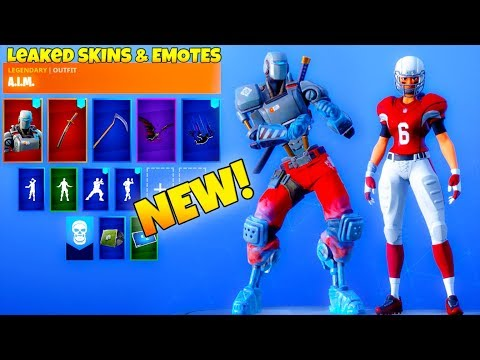 *NEW* Leaked Fortnite Emotes & Skins! (ROBOT SKIN, NFL Skins/Emote) thumbnail