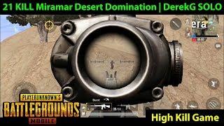First 20+ Kill SOLO Game on Miramar | 21 Kill Desert Domination | PUBG Mobile Lightspeed