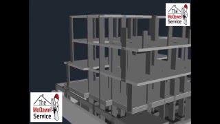 تصور ثلاثي الأبعاد لمراحل بناء الفلل عظم 3d video how to build a concrete structure villas