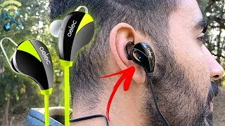 AELEC S350 Wireless Bluetooth Headphones In-Ear Sports Earbuds : Unboxing & Review