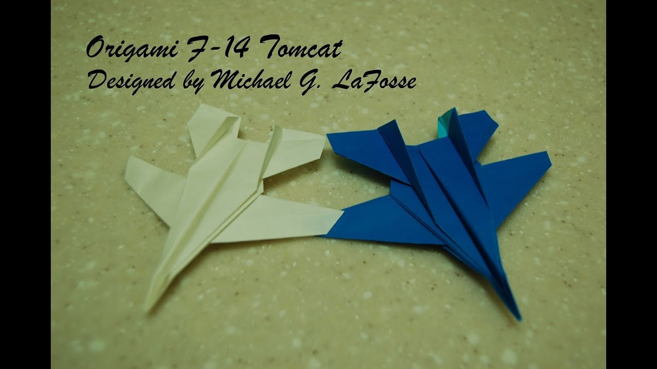 origami f14 tomcat fighter jet video ������� ���� ���� ���