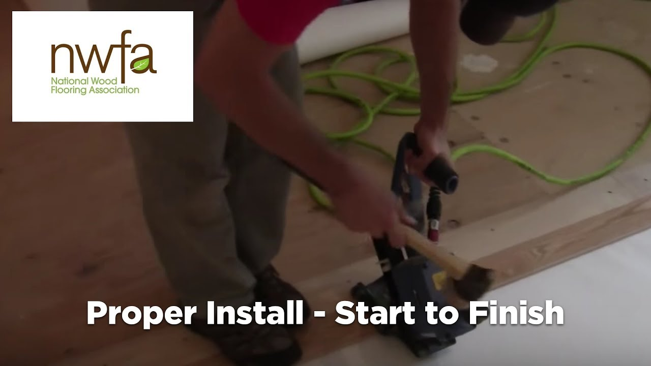 How To Properly Install Hardwood Flooring Youtube