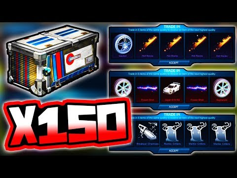 BIGGEST 150 ACCELERATOR ITEM TRADE UP ON YOUTUBE!! ( Rocket League Crate )