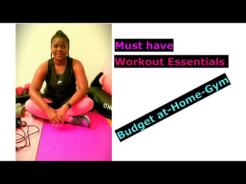 At Home Gym Affordable Must Have Workout Essentials for Beginners / Zambian You-tuber
