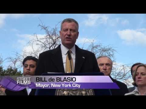 "NYC Mayor Bill de Blasio Makes Historic ""Vision Zero"" Announcement"