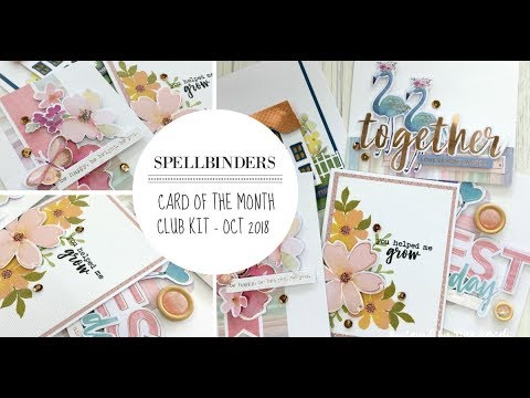 Spellbinders / Card of the Month Club Kit / October 2018