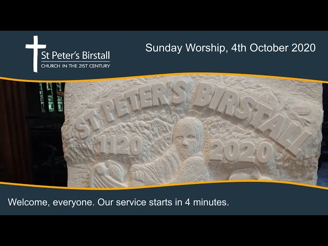 Online worship, 4th October 2020