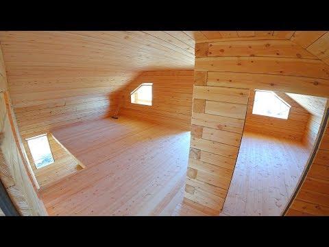 Строительство. Дом из бруса. Якутия. Часть 5
