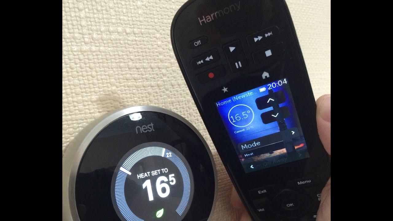 Logitech Harmony Remote  U0026 Nest Thermostat Working Together