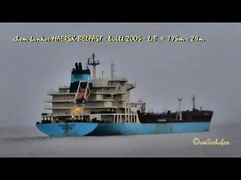 magnesium tanker MAERSK BELFAST 9V6969 IMO 9299446 Emden seaship merchant vessel tug Seeschiff 2 Sch