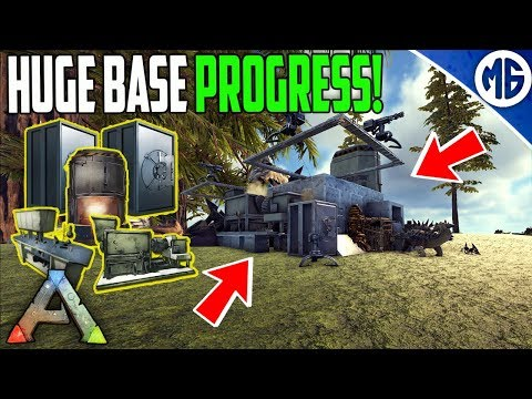 HUGE BASE PROGRESS BOIS! Small Tribe Servers Official PvP Ep 2 - Ark: Survival Evolved