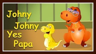 Johny Johny Yes Papa In Hindi With Baby Dinosaur for Children | Learn Colors in Hindi for Children
