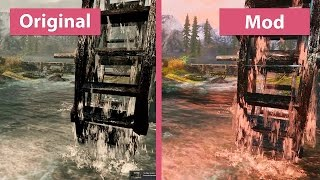 The Elder Scrolls V: Skyrim – RealVision ENB + Fantasy Effects vs. Vanilla Comparison [60fps]