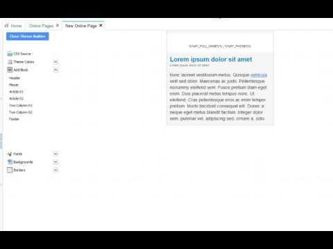 Create Online Pages Using Basic Layouts