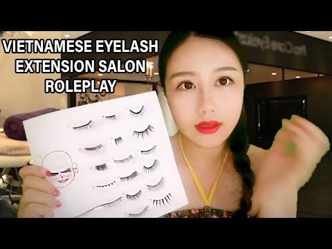 *ASMR* Vietnamese Beauty Salon Role Play - Eyelash Extensions (VIET ACCENT)