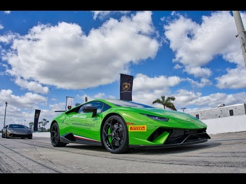 Lamborghini Aventador S Huracan Performante on Race Track LAMBO PARADISE with Lamborghini Miami