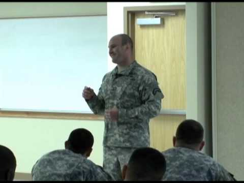 Wounded Warrior SGT Tom Block Inspires Young Armor Officers at Fort Benning