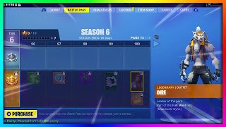 Premier regard sur la saison 6 Battle Pass à Fortnite: Battle Royale