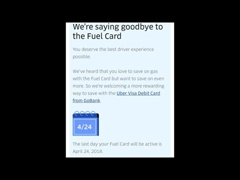 Uber Is Trading The Gas Card Out For The
