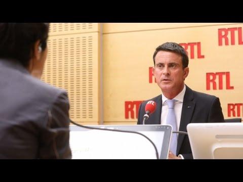 Manuel Valls était l'invité de RTL Matin