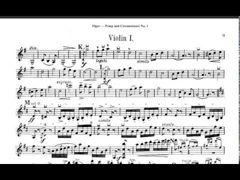 Elgar pomp and circumstance violin sheet music youtube for Pomp and circumstance