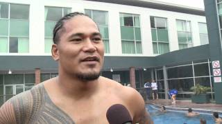 Rugby World Cup -  Tuilagi smashes reporter