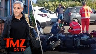 George Clooney Injured in Scooter Accident! | TMZ TV