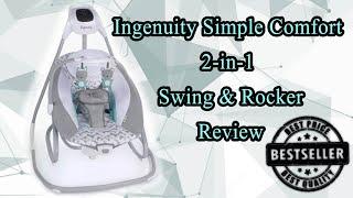 Ngenuity Simple Comfort 2-in-1 Swing \u0026 Rocker Testing \u0026 Review
