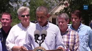 Obama Sees Baton Rouge Flood Damage -Full News Conference