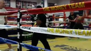 Coach Caloy Vasquez training @ Mayweathers boxing gym.