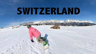 The BEST place for SNOWBOARDING? Switzerland In 360 VR