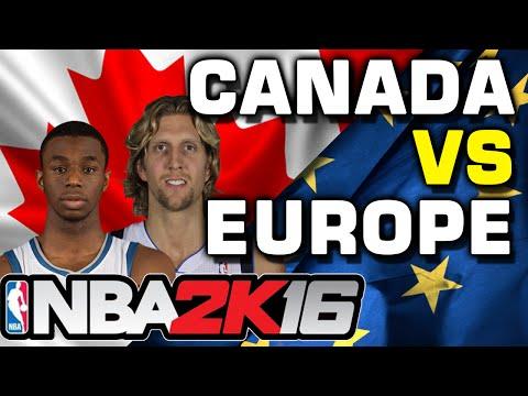 NBA 2K16 Canada vs Europe myTeam Match