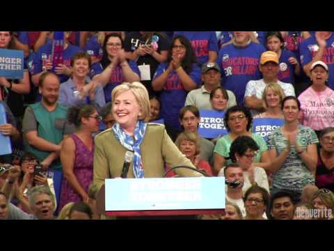 Hillary Clinton speaks at Adams City High School