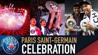 CHAMPION DE FRANCE 2018 - CELEBRATION AU PARC DES PRINCES with Neymar Jr, Mbappé, Cavani