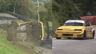 Nice Honda CRX, unfortunately with very bad crash at Swiss Hillclimb Bergrennen Oberhallau 2014
