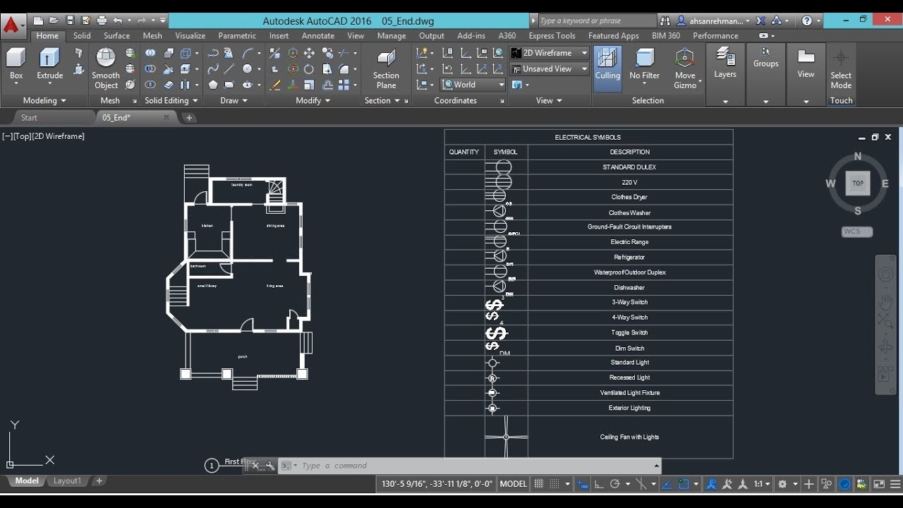 drawing electrical plans in autocad creating a dwraing legend for electrical symbols [ 1280 x 720 Pixel ]