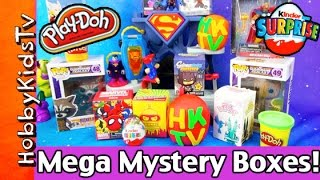 Mega Mystery Boxes and Play-Doh Surprise Eggs
