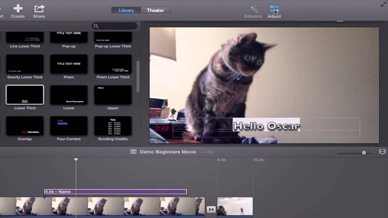 iMovie 10 Tutorial: Beginners and Basics - YouTube