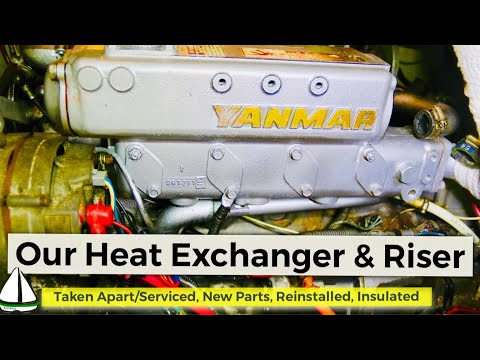 how-to-repair-a-heat-exchanger-/insulate-an-exhaust-riser:yanmar-engine-patrick-childress-sailing-44