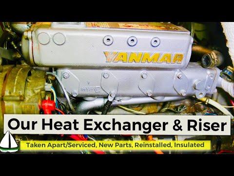 How to Repair a Heat Exchanger /Insulate an Exhaust Riser:Yanmar 4JH3E -Patrick Childress Sailing 44