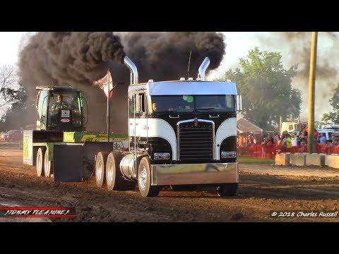 Semi Truck Pulls! 2018 Mount Pleasant Pull