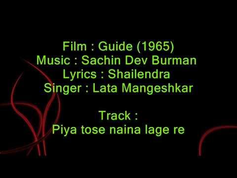 Piya Tose Naina Lage Re - Guide 1965 - Full Karaoke