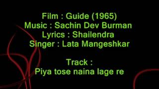 Piya tose naina lage re - Guide 1965 - Full Karaoke