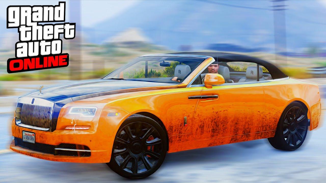 ГТА 5 КРАШ ТЕСТ: Rolls Royce Dawn   Настоящие Машины!