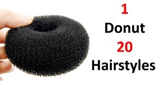 20 hairstyles in 1 donut || easy hairstyles || quick hairstyles || cool hairstyles || hairstyles