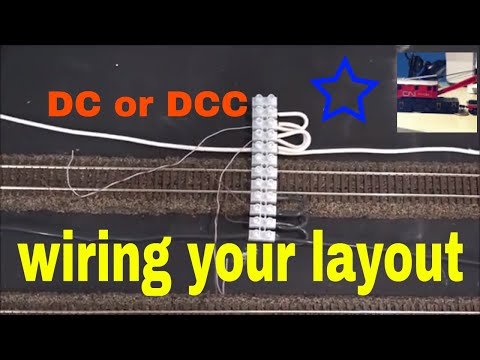 wiring a model train layout, Bus line, feeder wires, for DCC